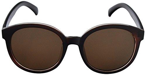 SoMuchSun Round Frame Low Nose Bridge Sunglasses (Lane 1040) (Brown Gloss, - Sunglasses Low Bridge