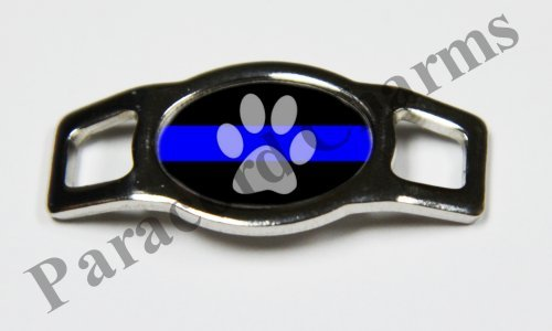 Police - Design #104 - Stainless Steel 550 Paracord Shoelace Charm - NEW Police Stainless Steel