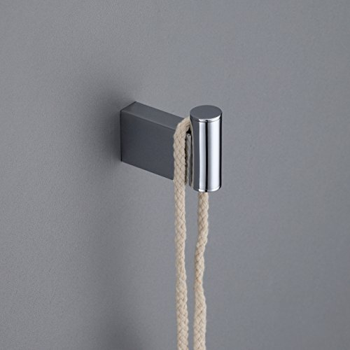 MAYKKE Benidorm Bath Towel Robe Hook for Bathroom or Kitchen, Polished Chrome OYA1021101 - Sage Robe Hook