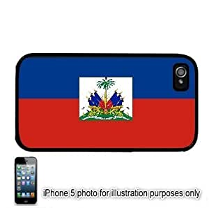 Haiti Haitian Flag Apple iPhone 5 Hard Back Case Cover Skin Black by ruishername