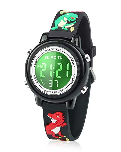 Viposoon Kids Watch, 3D Cartoon Watch with 7 Color Lights and Alarm - Best Gift