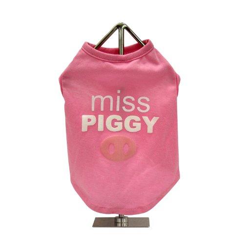 FouFou Dog Slogan Tank Pet T-Shirt, Medium, Miss Piggy, My Pet Supplies