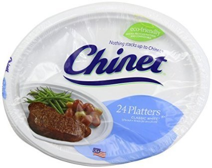 Chinet Premium  12 5/8 x 10-Inch Paper Platters, 24 ct - 2 Pack