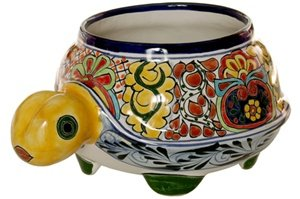 "Talavera Medium Turtle Planter - 6.5"" x 10.5"" x 14"""