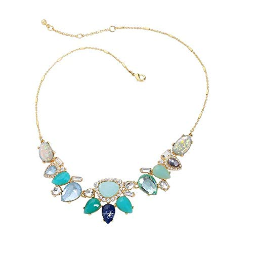 Newyht Crystal Fashion Necklace Classic Vintage Pendant Necklace for Women Girls (Necklace-01)