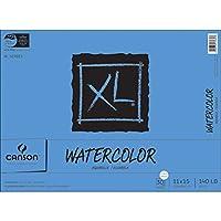 Almohadilla de papel con textura de acuarela de la serie XL de Canson para pintura, lápiz, tinta, carboncillo, pastel y acrílico, plegado, 140 libras, 11 x 15 pulgadas, 30 hojas (7022446)