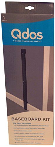 Qdos Universal Baseboard Kit for All Baby Gates – Professional Grade Safety – Universal Solution for Gate Installation Over a Baseboard – Works with All Gates – Easy Installation | Slate