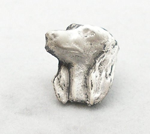 Solid Pewter Afghan Hound Dog Pin Badge