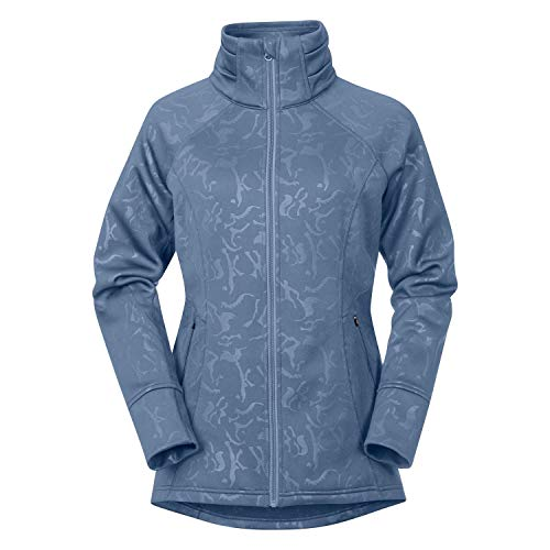 Kerrits Flex Fleece Jacket Denim Embossed Horse Size: Small
