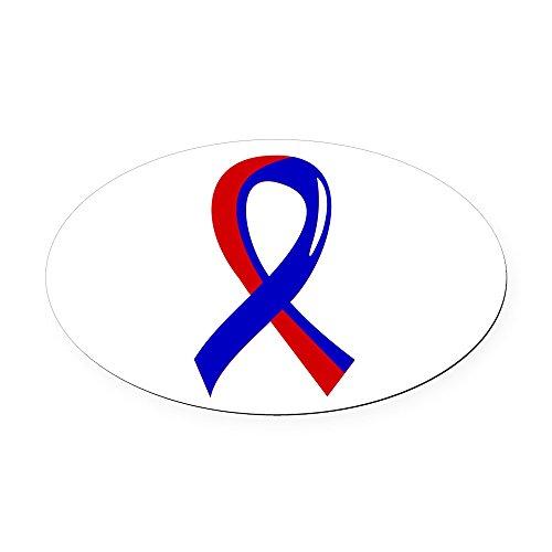 CafePress - Pulmonary Fibrosis Ribbon 3 Oval Car Magnet - Oval Car Magnet, Euro Oval Magnetic Bumper Sticker