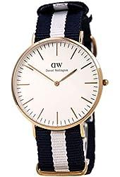 Daniel Wellington Men's 0104DW Glasgow Analog Quartz Stripe Nylon Watch