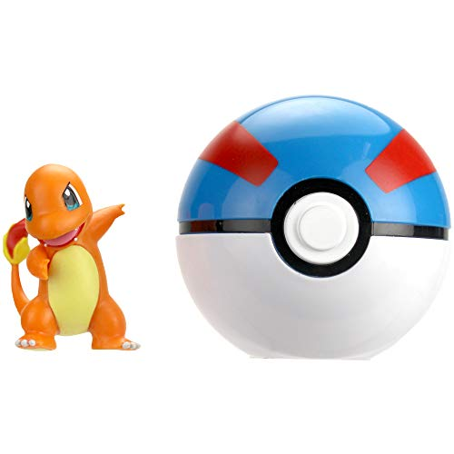 Wicked Cool Toys Pokémon Clip 'N' Go - Charmander & Great Ball Poké - Ball Pokemon