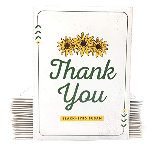 (Thank You - Black Eyed Susan Seed Packet Party Favors - Already Filled - Pack of 20)
