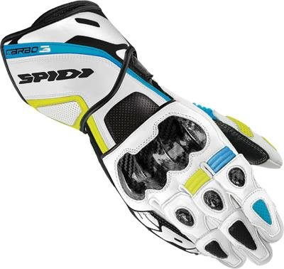 Spidi Sport S.R.L. Carbo 3 Gloves, Distinct Name: White/Blue, Gender: Mens/Unisex, Size: Md, Primary Color: White A126-034-M by Spidi (Image #1)