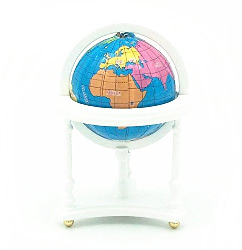 EatingBiting(R) 1:12 1/12 Dollhouse Miniature Furniture Room Wooden White Spinning World Globe , Doll House Study Room World Globe , Worth to Keep , Vivid Gift from EatingBiting(R)