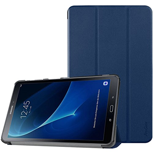 (ProCase Galaxy Tab A 10.1 with S Pen Case 2016 (SM-P580), Slim Smart Cover Stand Folio Case for Galaxy Tab A 10.1 Inch Tablet S Pen P580 2016 -Navy Blue)