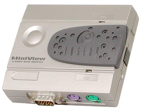 Iogear 2-Port MiniView PC/PS/2 KVM Switch, GCS12