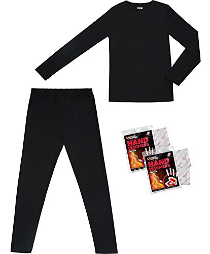 32 Degrees Weatherproof Big Boy's Base Layer Thermal Set, M, Black