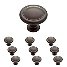 Franklin Brass P35597K-OB3-B 1-1/4-Inch Round Ringed Kitchen Cabinet Drawer Knob, Oil Rubbed Bronze, 10-Pack