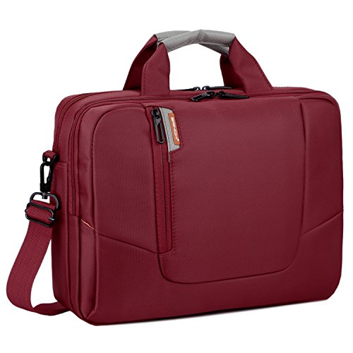 BRINCH(TM) 17.3 inch New Soft Nylon Waterproof Laptop Computer Case Cover Sleeve Shoulder Strap Bag with Side Pockets Handles and Detachable for Laptop/Notebook/Netbook/Chromebook,Colour Red