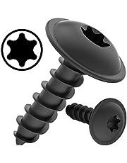 100 AUPROTEC zelftappende schroeven 4,2 x 13 mm platte kop met schijf TORX zwart verzinkt DIN 7049-4,2 x 13 mm, 100 stuks