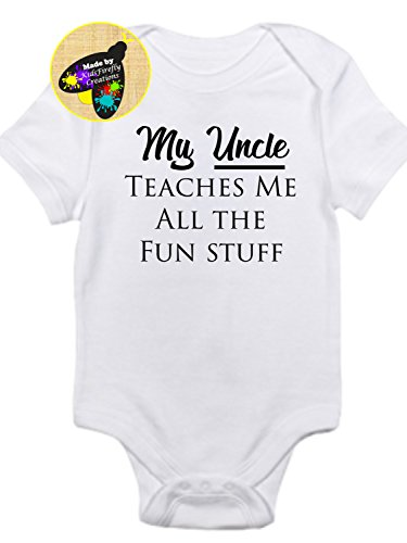 My Uncle teaches me all the fun stuff onesie bodysuit gerber so adorable!