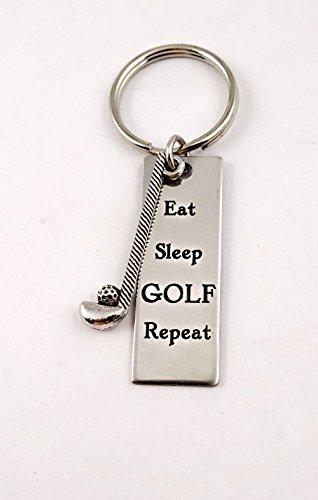 Golfer Golf Keychain - Golfing Key - Golfer Keychain