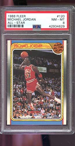 54a05458d5808 Michael Jordan Graded PSA 8 NM-MT (Basketball Card) 1988-89 Fleer - [Base]  #120