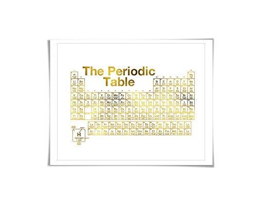 e Elements Gold Foil Print. 7 Foil Colours. Science Poster. Chemistry School Education Classroom ()