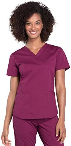 Cherokee Workwear Professionals WW665 Women's V-Neck Top
