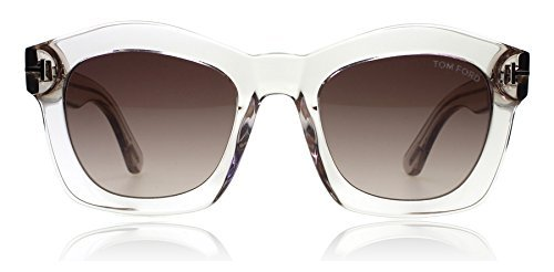 Tom Ford TF431 74S Clear / Pink Greta Square Sunglasses Lens Category 3 Size - Ford Tom Greta