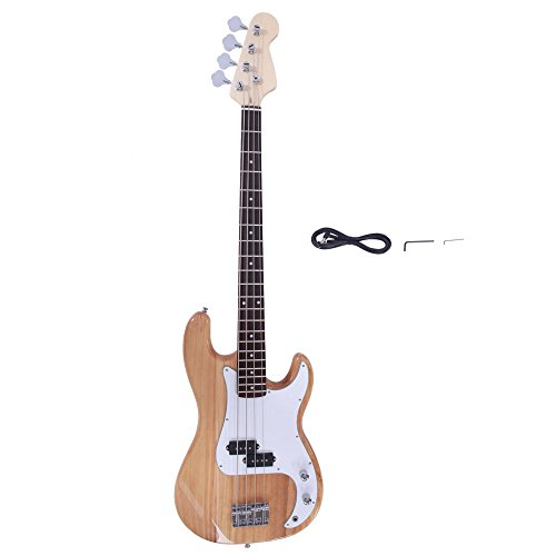 Electric Bass Guitar Starter Kit 4 String (Yellow)