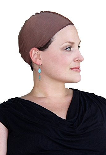 Cancer Headwear for Women Bamboo Wig Cap Hat Liner Chemo Moisture Wicking