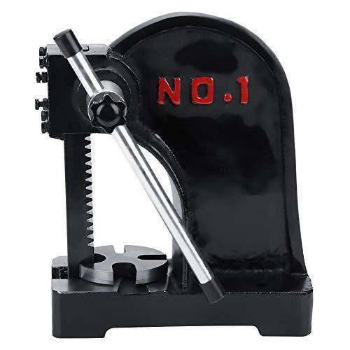 (1 T Arbor Press, Manual Desktop Punch Press Machine Metal Arbor Press Tool)