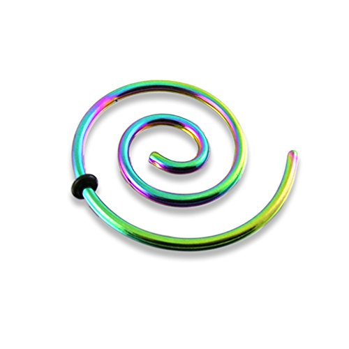 Surgical Steel Rainbow Anodized - 8