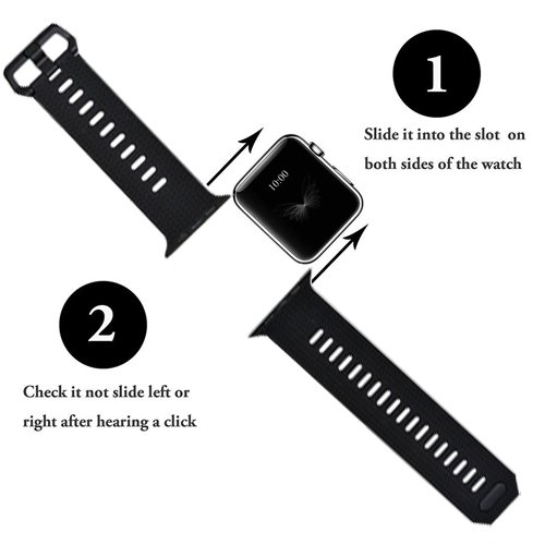 Langte Band for Apple Watch 42mm 38mm, Apple Watch Band for Apple Watch Series 3, Series 2, Series 1, Sport, Edition, S/M,M/L