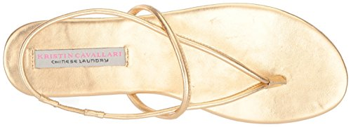 Chinese Laundry Kristin Cavallari Womens Knock Out Flat Sandal Gold/Metallic PkDW0