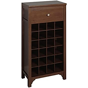 Amazon.com: Winsome Wood Wine Cabinet with Drawer and Glass Holder ...