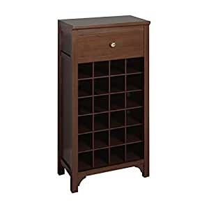 Winsome trading winsome wood wine cabinet for Kitchen cabinets amazon