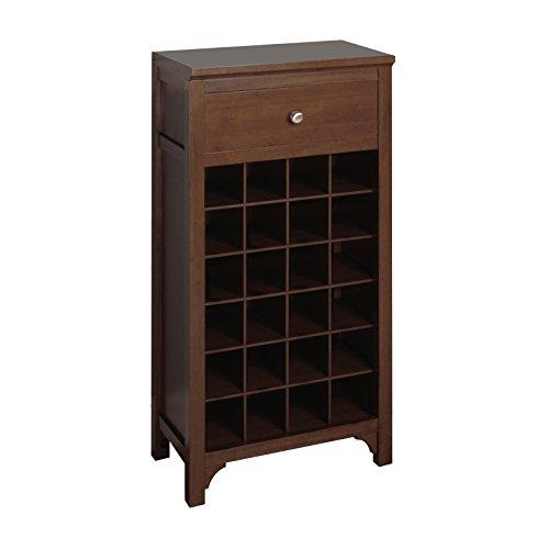 Winsome Trading Wood Wine Cabinet, (Walnut Wine Tower)