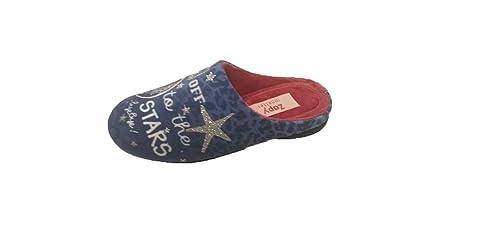 Zapatillas CASA NIÑA ZAPY Abierta Azul Plata Stars (30)