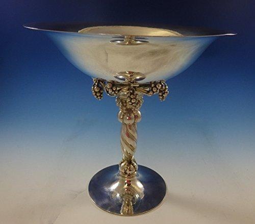 Georg Jensen Sterling Silver Grape Centerpiece No. 264B Hand Hammered 12