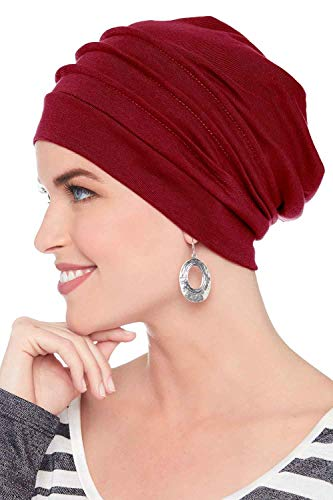 Headcovers Unlimited Slouchy Snood-Caps for Women with Chemo Cancer Hair Loss Cabernet ()
