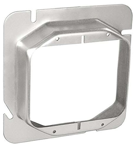 - 4-11/16 Inch Square Two Gang 1 Inch Raised Device Ring-5 per case