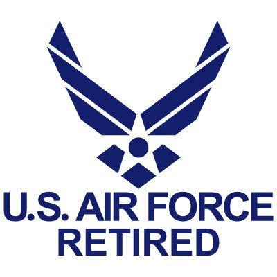 US Air Force Retired USAF United States Air Force Logo Car Window Bike Chopper Gas Tank Fender Vinyl Decal Sticker (AF-07) (4'' x 3.5'')