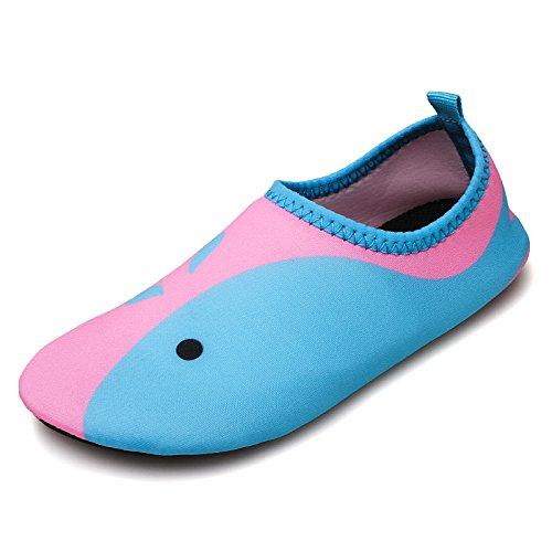 de zapatos calzado la buceo aire al en cuidado Natación SK6 cintas Lucdespo de antideslizante rosa libre piel el correr descalzo playa deportivos los la zapatos 7zq4wWE