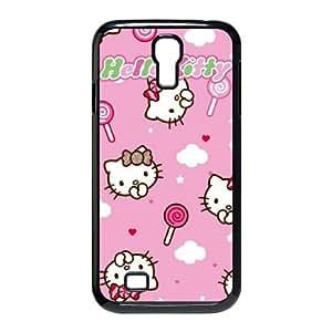 Samsung Galaxy S4 9500 Cell Phone Case Black Hello Kitty Lollipop Pattern FXS_603417