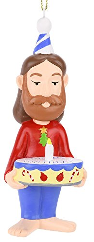 Tree Buddees The Birthday Boy Jesus Funny Christmas Tree Ornament ()
