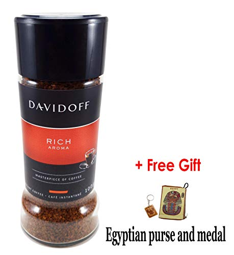 DAVIDOFF Rich Aroma A Masterpiece Taste Of Roasted Ground Instant Arabica Coffee Beans For A Perfect Day Start Jar 100 gm