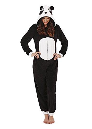 PIGIAMA DONNA ORECCHIE loungeable Tuta Panda Tutina 3D tutto in The intera donna Paula qxptIw6F